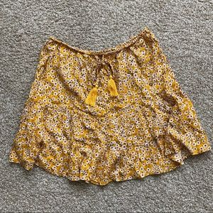 Princess Polly Yellow Floral Skirt